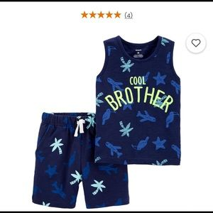 NWT Carter's 2-Piece Tank & Short Set 6m